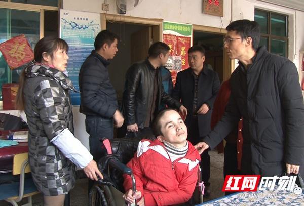 """湖南省残疾人福利基金会来祁阳开展""""集爱三湘·公益扶贫""""活动"""
